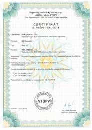 tabuľka RVB SUBTYP DC certifikát