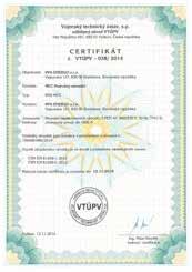 tabuľka RVB SUBTYP MCC certifikát
