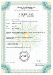 tabuľka RVB SUBTYP PC certifikát